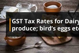 Gst rates on Dairy Products