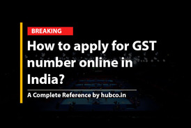 How to apply for GST number online in  India?