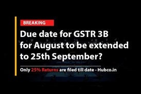 Due date for GSTR 3B for August to be extended to 25th September?