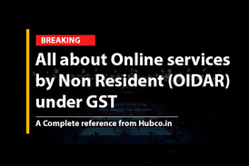All about Online services  by Non Resident (OIDAR) under GST