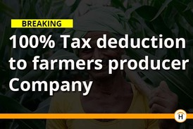 Producer Company - Full Tax Deduction