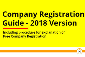 Company Registration Guide - 2018 Version - Including procedure for explanation of  Free Company Registration