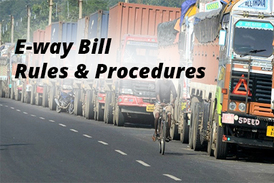 eway bill rules under gst
