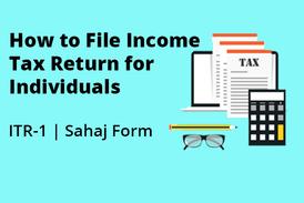 file ITR1 individual return filing