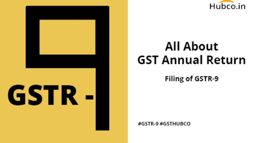 GSTR9 GST Annual Return