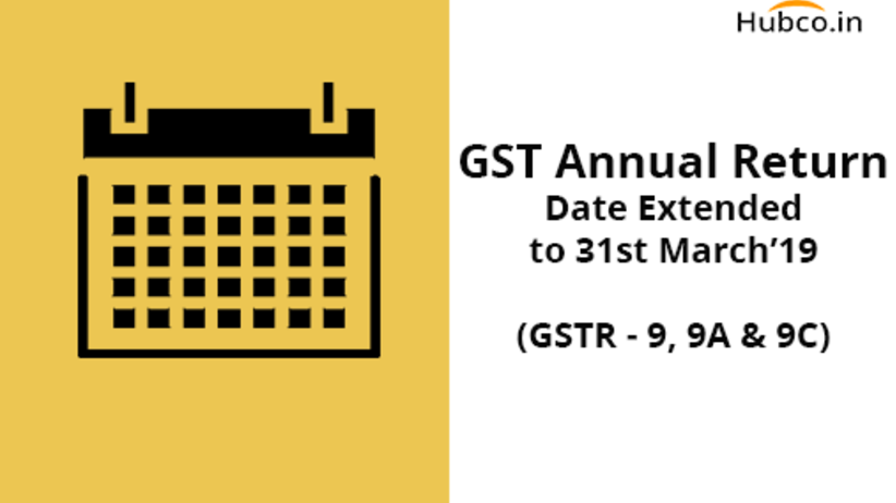 GST Annual Return Date Extended