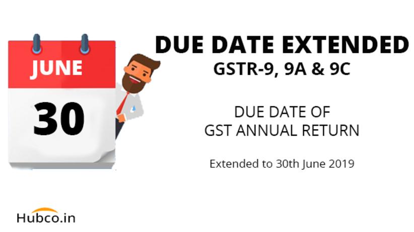 GST Annual Return Date Extended 30 June