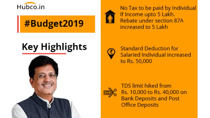 Budget 2019 Key Highlights