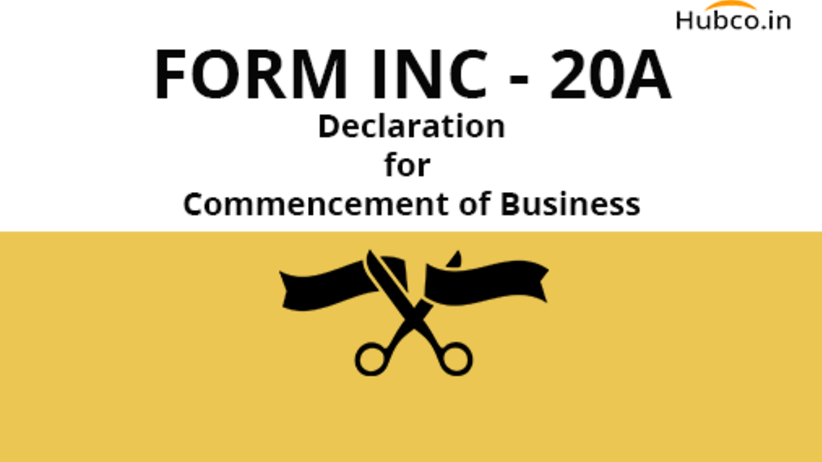 inc 20a commencement of business