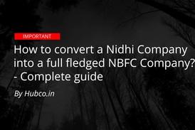 convert Nidhi company into NBFC
