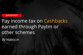 Income Tax on Cashbacks on Paytm or other wallets