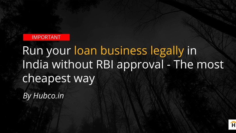 finance business start without RBI approval
