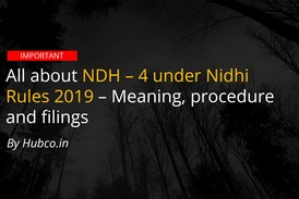 nidhi Amendment rules 2019 ndh 4