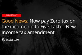zero income tax on 5 lakh income