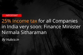 income tax rate on companies corporates