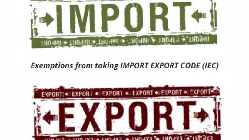Import export code iec exemption